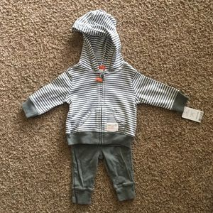 Carter's 2 Piece Hoodie with Pants 3mo